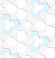 White and blue geometrical seamless pattern vector image vector image
