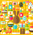 yellow easter seamless pattern vector image vector image