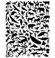 silhouette animals vector image