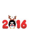 2016 penguin vector image