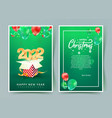 2022 happy new year invitation card merry vector image vector image