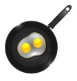 a frying pan with omelette vector image vector image