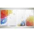 Abstract hand drawn watercolor background with vector image vector image