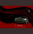 abstract wave background with car image vector image vector image