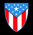 american flag shield badge icon symbol vector image
