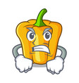 angry sweet yellow pepper in the kitchen cartoon