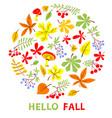 autumn floral card fall season vector image vector image