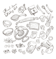 Baking doodle collection vector image vector image