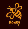 bee icon pretty bee logo image vector image vector image
