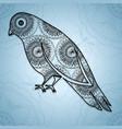 bird mandala boho style vector image