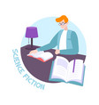 book flat vector image vector image
