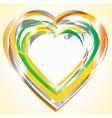 Bright heart vector image vector image