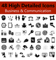 Business and Communication Smooth Icons vector image
