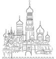 cathedral saint basil vector image