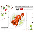 chinese cuisine asian national dish collection vector image