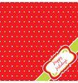 Christmas polka dot vector image vector image