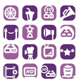 color movie icon set vector image