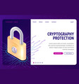 cryptography protection web isometric concept vector image