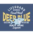 Deep blue shark vector image vector image