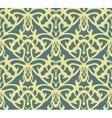 Elaborate golden vintage seamless pattern on blue vector image vector image