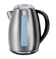Electric kettle Stainless steel vector image