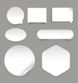 empty sticker set different shapes vector image