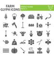 farm glyph icon set agriculture symbols vector image