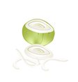 Fresh Sliced Onions on A White Background vector image