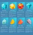 gemstone collection of posters vector image vector image