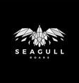 geometric seagull polygonal broken glass roar vector image