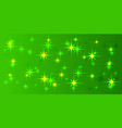 green background with green stars vector image vector image
