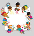 group of children vector image vector image