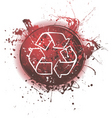 grunge eco background vector image vector image
