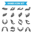 Hand hold protect icons vector image vector image