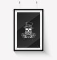 handdrawn angry skull leprechaun vector image
