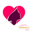 happy women day holiday paper cut gi vector image