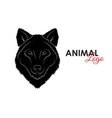 head wolf icon logo symbol vector image