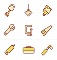 Icons Style Basic - Tools and Construction icons vector image vector image