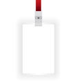 Identification card blank vector image