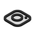instagram logo isometric icon vector image vector image
