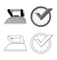 isolated object of laundry and clean icon vector image vector image
