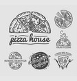 italian authentic pizza house with family recipes vector image vector image