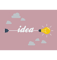 Light Bulb Idea in Flat Style vector image vector image