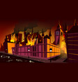 london plague epidemic in fire vector image