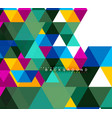 multicolored triangles abstract background mosaic vector image vector image