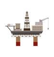 Oil rig at sea icon cartoon style vector image vector image