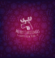 pattern with christmas logo merry christmas and vector image