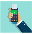 payment credit card using a validator vector image vector image