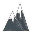 peak mountains landscape vector image vector image