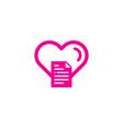 romantic document logo icon design vector image vector image